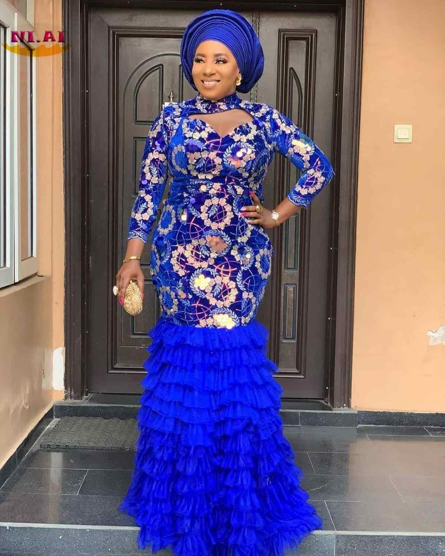 NIAI קטיפה אפריקאית תחרה בד עם פאייטים ניגרי צרפתית תחרה בדי 2020 גבוהה באיכות נצנצים לחתונה שמלת XY3225B-1
