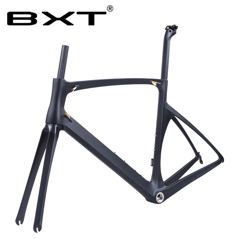2019 BXT Carbon Road Cycling Frame Carbon 700c Bicicleta Carbon Bike Frame V-Brake Road Bicycle Frameset 49/52/54/56cm