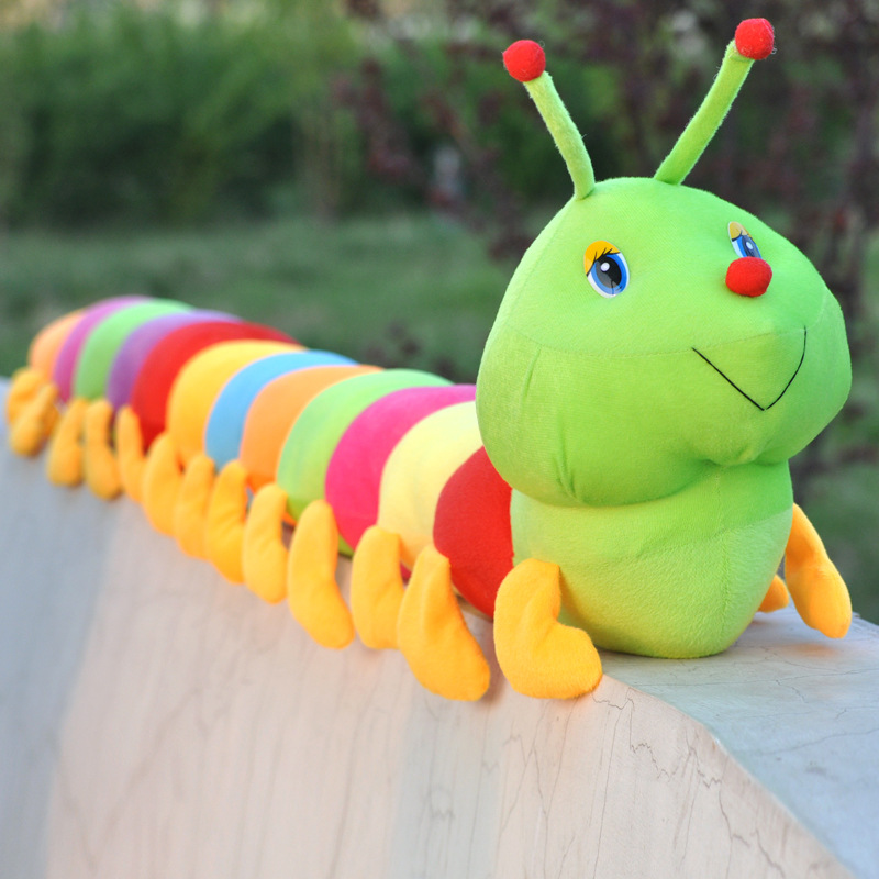 50/80CM Colorful Caterpillar Plush Toy Pillow Caterpillar Big Insect Doll Valentine 's Day Gift Plush Toys