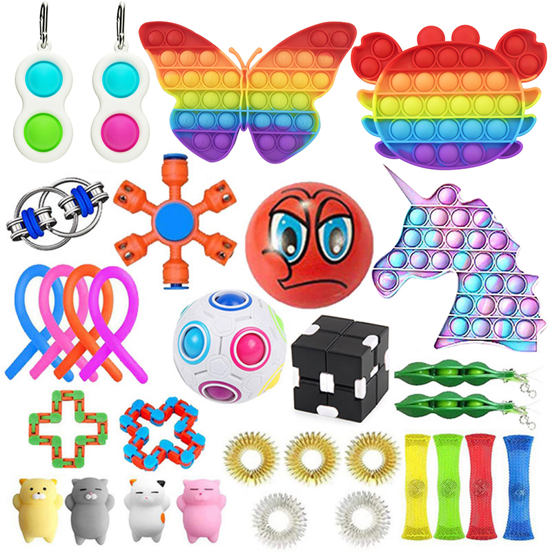 20/22/24/25 PCS Pack Fidget Sensory Toy Set Stress Relief Toys Autism Anxiety Relief img5