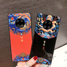 Suitable for Huawei mate30 mobile phone shell 30pro Chinese style mate20 anti drop p40 glass 20pro protective sleeve