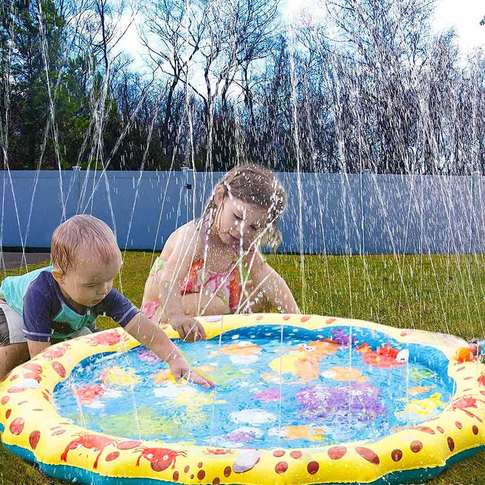 Crianças do Bebê Esteira de Água Verão Jogar Jogos Praia Almofada Inflável Spray Água Piscina 100cm