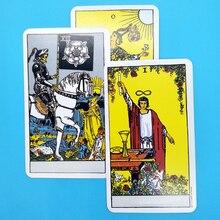 Полный английский лучистый Райдер Wait Tarot карты фабричного производства высокое качество Smith Tarot палубные настольные игровые карты