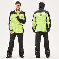 Rain coat Outdoor sports jacket motorbike raincoat suit motocross Impermeable waterproof Fishing Black raincoat BB50YY