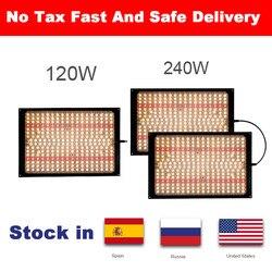 Московский сток Светодиодный светильник для выращивания lm301b 288 шт. чип полный спектр 240 Вт samsung 3000 K, 660nm красный Veg/Bloom state Meanwell драйвер