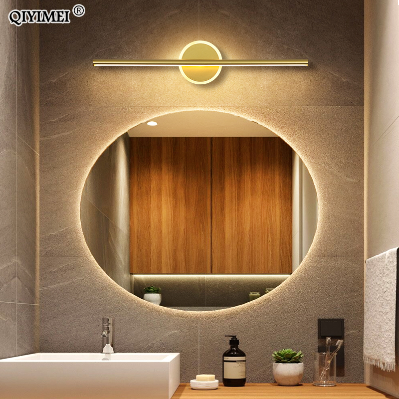 White Gold Bathroom Lamp Led Wall Lamps For Makeup Living Room Iron Acrylic Base Indoor Mirror Light Lighting Luminaria Wandlamp