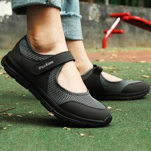 2019 Summer Fashion Women Flat Platform Shoes Breathable Mesh Casual Shoes Moccasin Zapatos Mujer Ladies Boat Shoes Sneakers