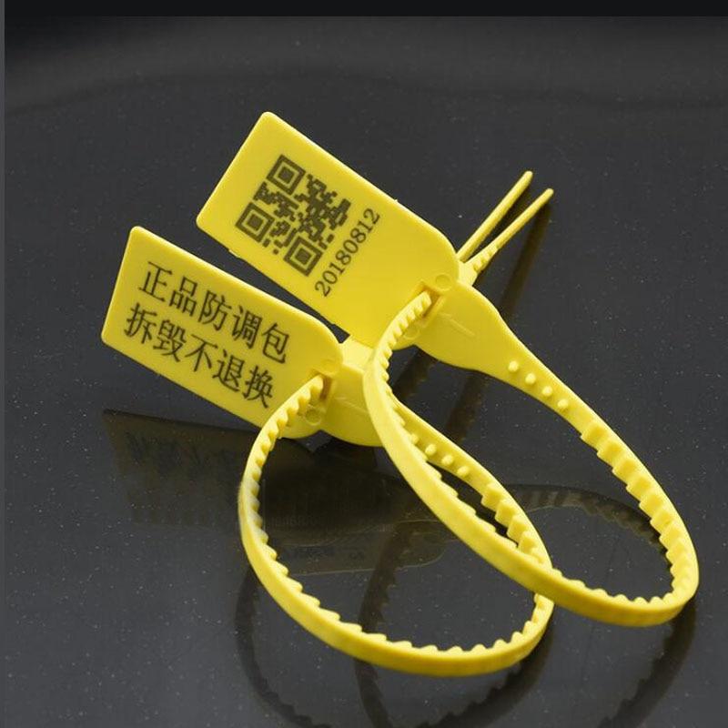 100pcs Tag Fivela Saco Selo Plástico Descartável