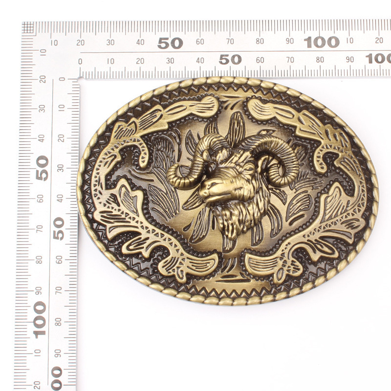 Sheep head pattern belt Buckle for 3.8cm 4cm belt DIY Components homemade handmade waistband