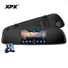 XPX araba dvrı 3 in 1 G616 STR çizgi kam Full HD arka görüş kamerası GPS Radar dedektörü DVR Antiradar dikiz aynası araba kamera kayıt