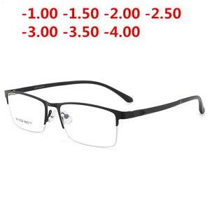 Image 5 - Ultraleicht TR90 Fertig Myopie Gläser Frauen Männer Retro Oval Student kurzsichtig Brille Dioptrien 0,5 1,0  1,5 2,0 Zu 4.0NX