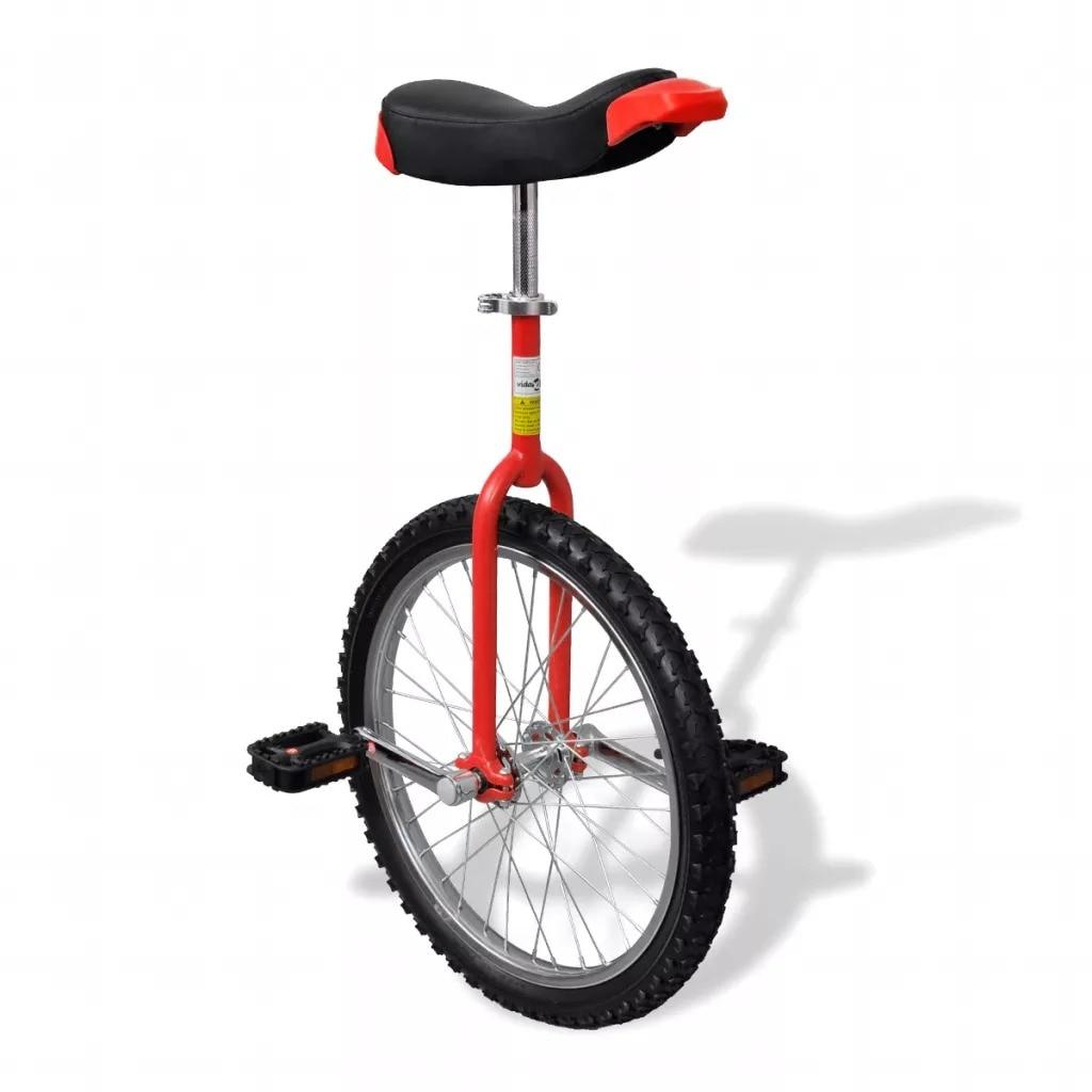 VidaXL Ergonomically Distinctive Unicycle Bicycle Red Adjustable Unicycle 20 Inch Wheel Unicycle With Saddle