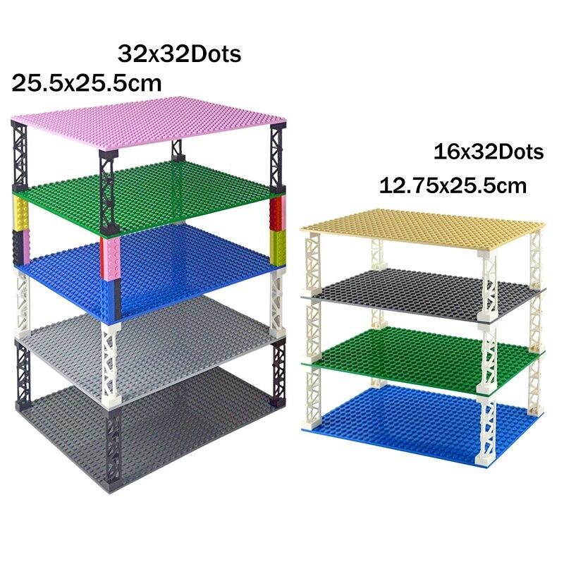 Высококачественные двухсторонние 32*32 точки классические опорные пластины Кирпичи DIY строительное основание для блоков совместимы с основн...