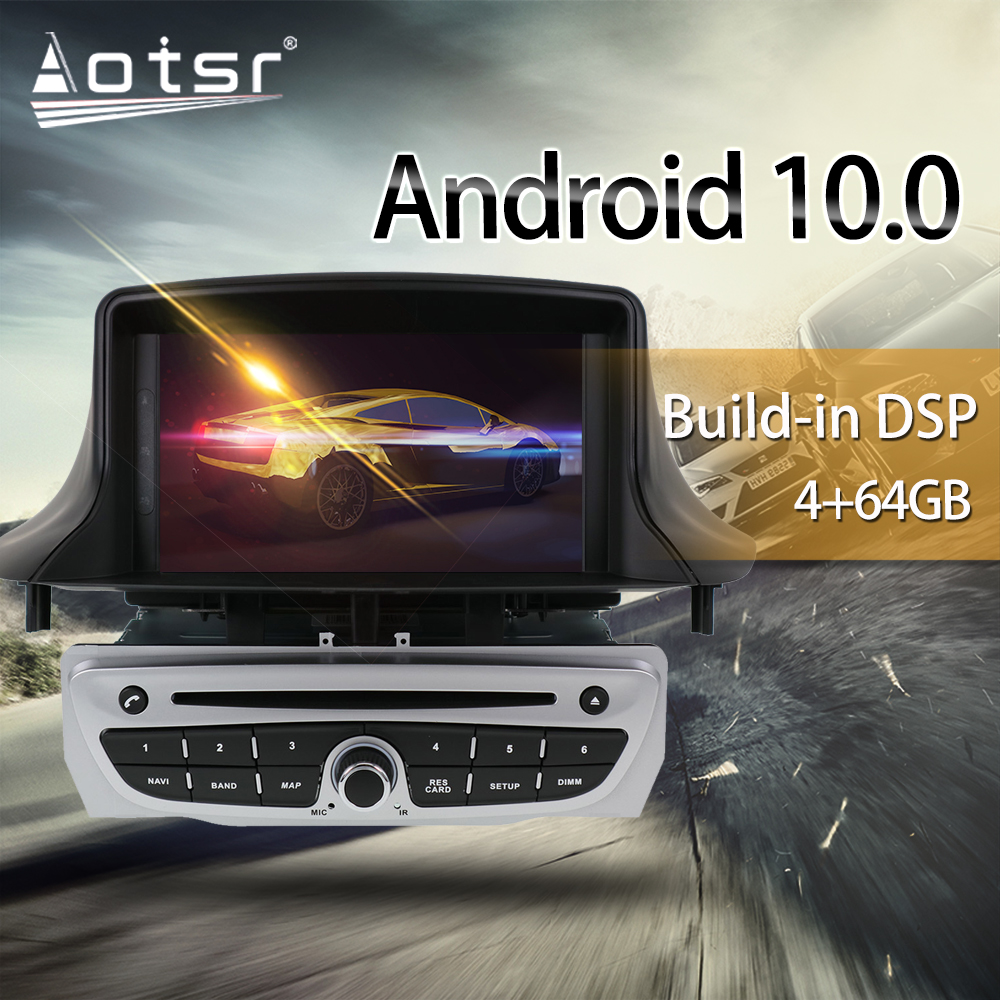 For Renault Megane 3 Fluence 2009-2015 Car Multimedia Radio Player Stereo Android 10