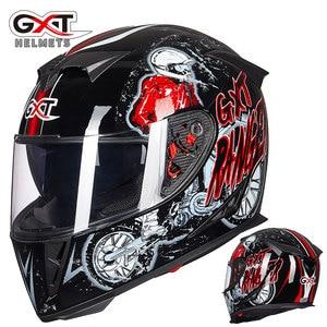 Image 4 - את האחרון GXT 358 אופנוע קסדה מלא פנים קסדת גברים של מירוץ capacete casco מוטוקרוס cascos