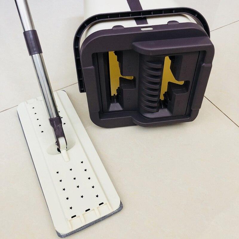 Image 3 - Prémio Magia Esfregão E Balde Sistema Com Free Hand Wash  Microfibra Mop Cabeça Substituição Uso em Piso de Madeira Laminado  TelhaEsfregão