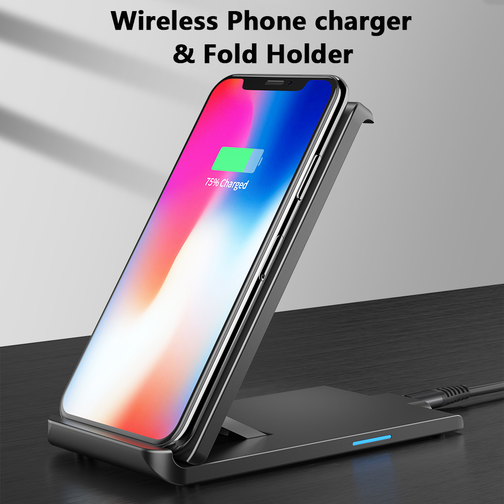 Essager Wireless-Charger Xiaomi Huawei P30 Dock-Station-Stand Charging-Pad Samsung IPhone X
