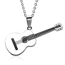 Moda criativa música guitarra pingente hip hop rock acessórios populares colar de jóias acessórios para banquetes presentes do feriado
