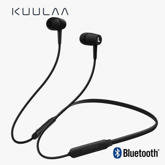 Kuulaa bluetooth fone de ouvido sem fio em orelha neckband esportes fone de ouvido handsfree earbud bluetooth 5.0 para telefone celular fone de ouvido