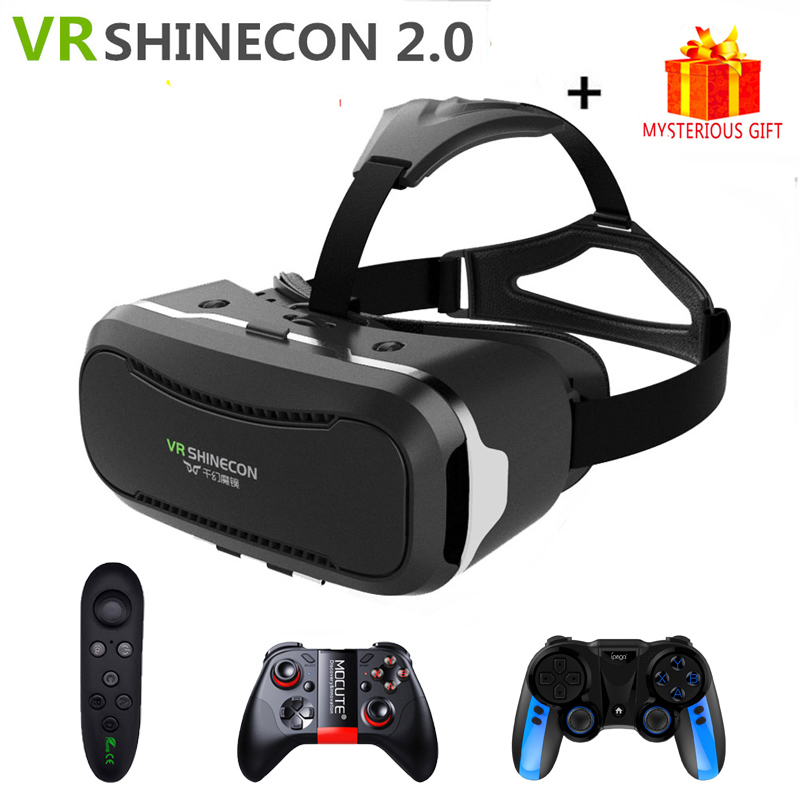 "Virtual Reality VR Shinecon 3D Glasses with Headset For 4.7/""-6.1/"" Smartphones"