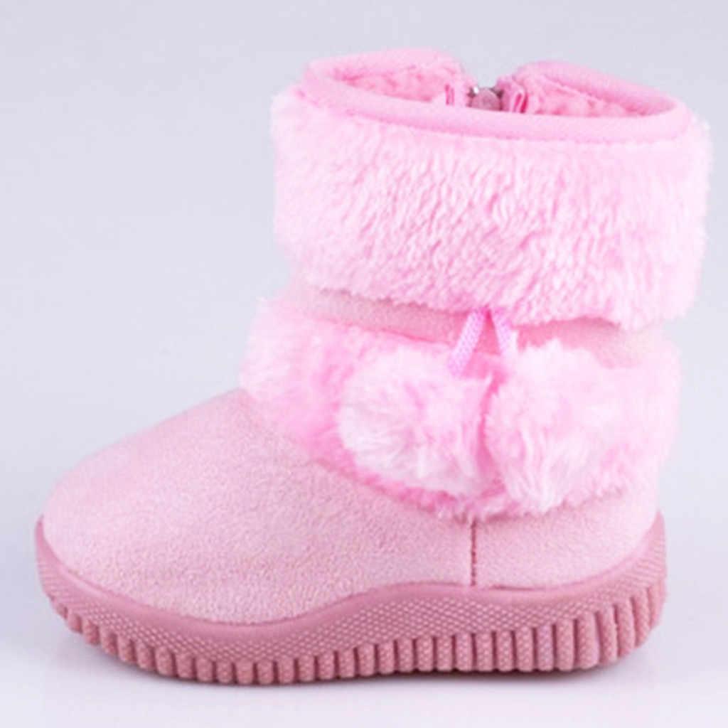 ילדי אופנה קריקטורה רוכסן מגפי בני בנות Sneaker ילדים חורף חם תינוק נעליים יומיומיות Tenis Infantil