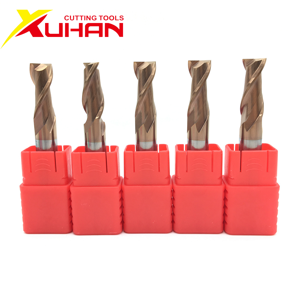 HRC55 Carbide End Mill 1 2 4 5 6 8 10 12mm 2Flutes Milling Cutter Alloy Coating Tungsten Steel Cutting Tool CNC Maching Endmills