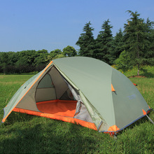 Outdoor camping Double double aluminum pole tent Wild 2 people windproof and rainproof waterproof camping цены