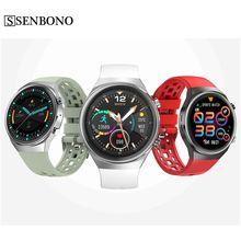 SENBONO Q8 Smartwatch 1.3นิ้ว HD สมาร์ทนาฬิกาสนับสนุน BT โทร Heart Rate BP ECG ควบคุมเพลงสำหรับ IOS android