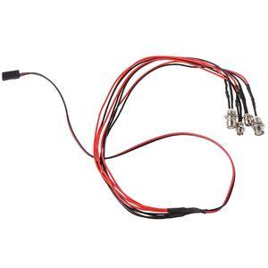 Image 1 - 2020 yeni 4 adet/takım RC Model Drift araba LED gece 5mm ve 3mm farlar farlar LED ışık LED RC araba için