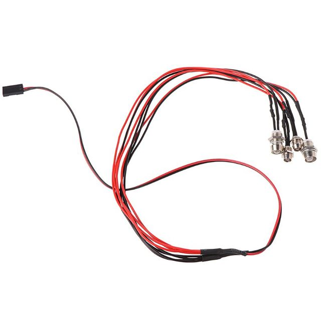 2020 yeni 4 adet/takım RC Model Drift araba LED gece 5mm ve 3mm farlar farlar LED ışık LED RC araba için