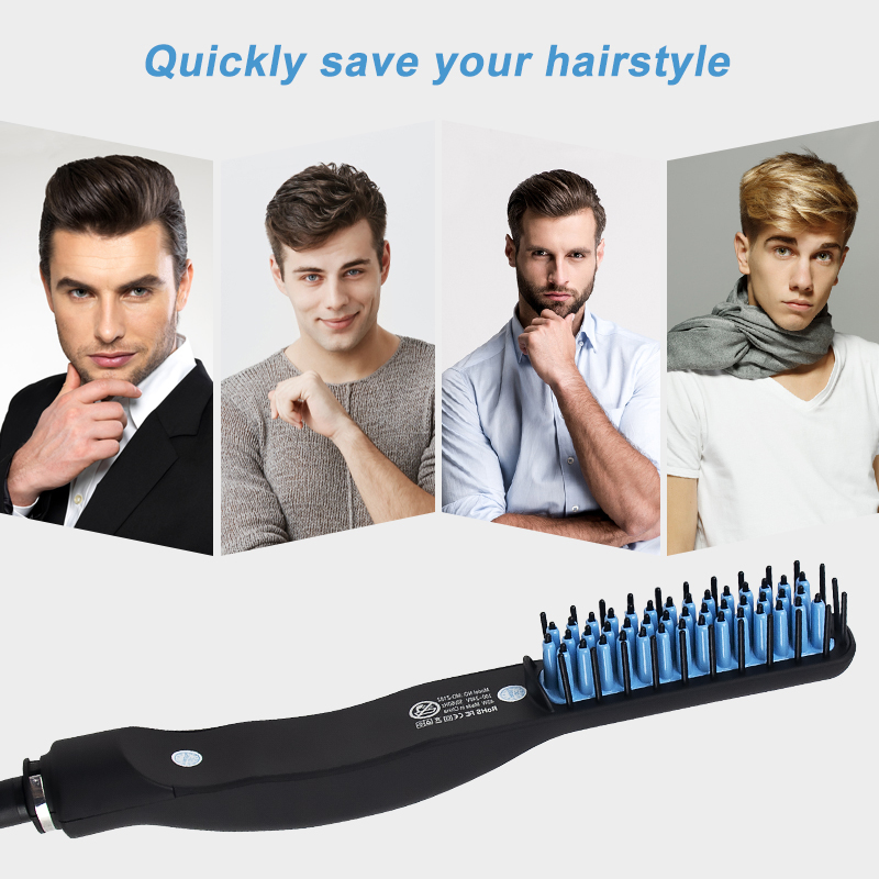 Multifunctional Beard Straightener Electric Comb  For Quick Hairstyle  For  Men 7