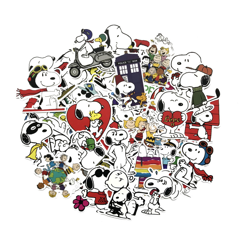 62 Pcs Mixed Cartoon Toy Snoopy Stickers For Car Styling Bike Motorcycle Phone Laptop Travel Luggage Cool Funny Sticker Decals