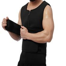 Vest Waist-Trimmer-Belts Body-Shaper Tank-Top Weight-Loss for Men Neoprene Workout