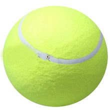24cm Giant Tennis Ball For Pet Chew Toy Big Inflatable Tennis Ball Signature Ball Supplies Outdoor Cricket