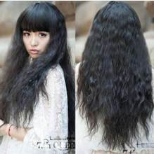 Wig New Fashion Weave Corn Wig Long Curly Hair Cosplay Harajuku Full WigsFree Shipping(China)