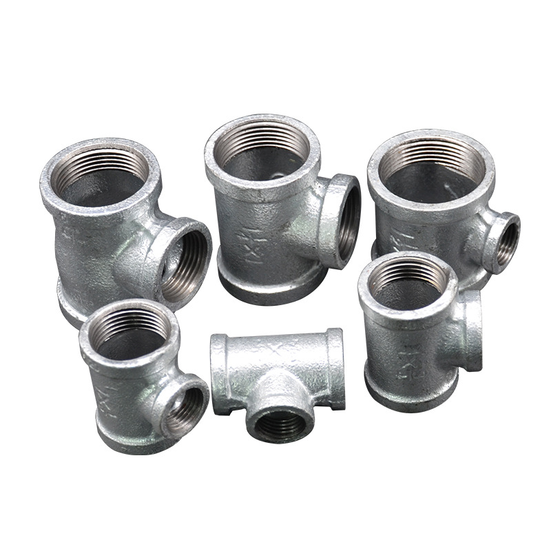 Firefighting Engineering Work Site Pipe Fitting Galvanized Threaded Side Three Tee Hot Galvanized 32X25X25 Large Amount Favorabl