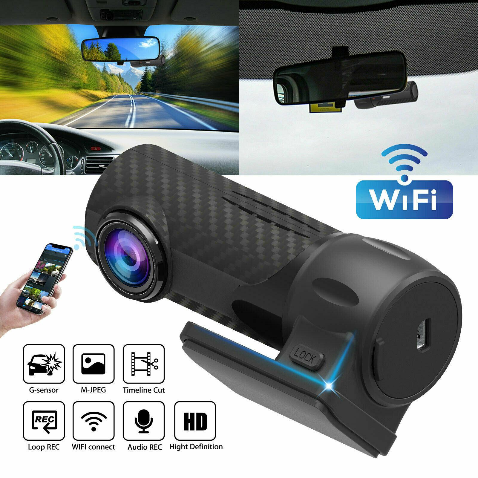 Car DVR Camera Video-Recorder Parking-Monitor Dash-Cam Hidden G-Sensor-Loop WIFI Rear-View