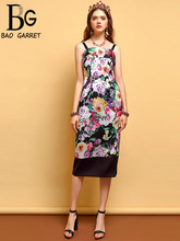Baogarret Fashion Summer Dress Womens Sexy Spaghetti Strap Backless Floral Printed Elegant Vintage Slim Vacation Dresses