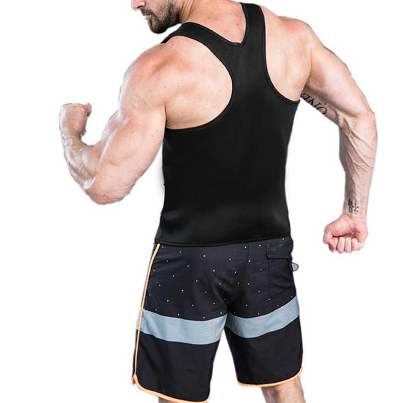 Мужские корсеты для пота, мужские, формирующие стройное тело, Корректирующее белье для похудения, летнее моделирующее белье для тренировок, черная Талия, тренажер