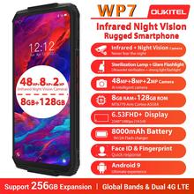 "OUKITEL WP7 8000mAh 6.53"" Infrared night vision Mobile Phone 8GB 128GB Octa Core 48MP Triple Cameras Rugged Smartphone"