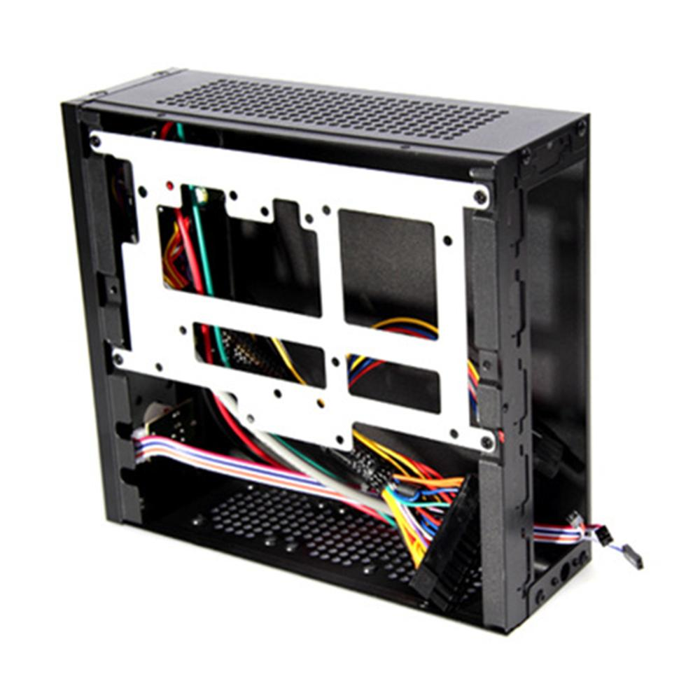E-G3 Mini ITX Server Tower 6xCOM Port Embedded SGCC Computer Case PC Chassis High Heat Dissipation for Universal Motherboard