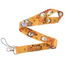 CA223 Cat модный шнурок ключевой ремень для ключей телефона Мультяшные шнурки ID значок с держателем для ключей