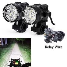 LED Moto รีไซเคิลไฟหน้า 6/9 ลูกปัด Moto LED โคมไฟสำหรับ BMW R1200GS F800 F700GS ด้านหน้าวงเล็บ Moto RBIKE หมอกผ่าน LIGHT