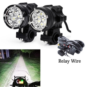Image 1 - Led motorcycle headlight 6/9 beads moto led lamps For BMW R1200GS F800 F700GS Front Brackets motorbike Fog Passing Light