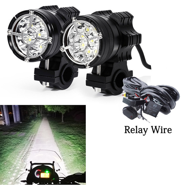 Led motorcycle headlight 6/9 beads moto led lamps For BMW R1200GS F800 F700GS Front Brackets motorbike Fog Passing Light