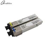 1.25Gb/s Gigabit 20km SFP Module Mini BIDI Fiber Optic Transceiver Single Fiber SM 1310nm/1550nm SC 20km