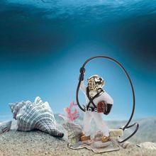 Fish Tank Sea Treasure Diver Air Action Ornament Resin Underwater Decorations For Aquarium