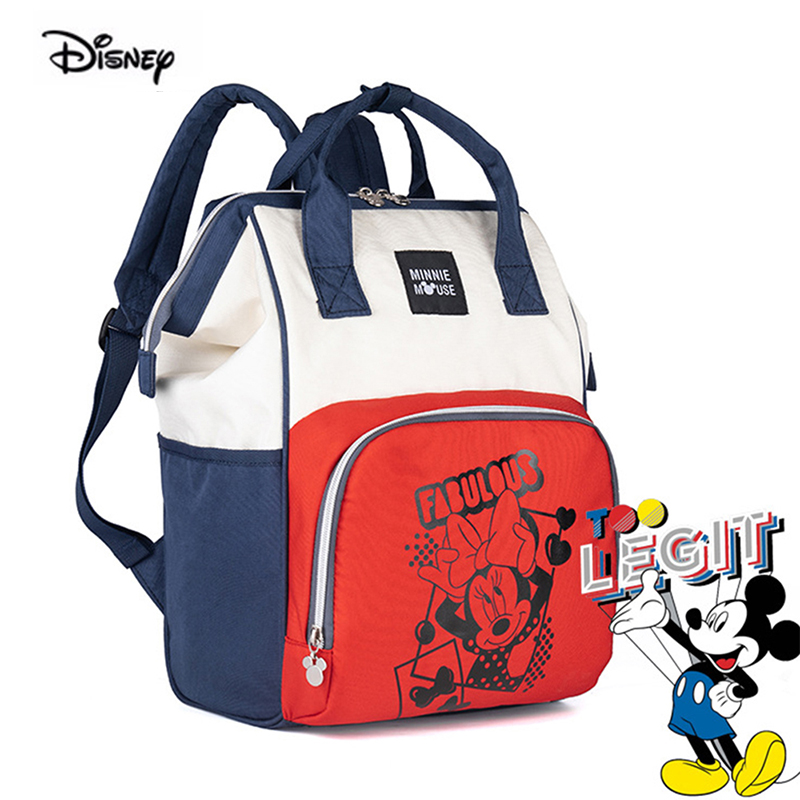 Disney Fashion Diaper Backpack Large Capacity Outdoor Baby Mother's Bag For Travel Maternity Bag Multi-Function Factory Sale