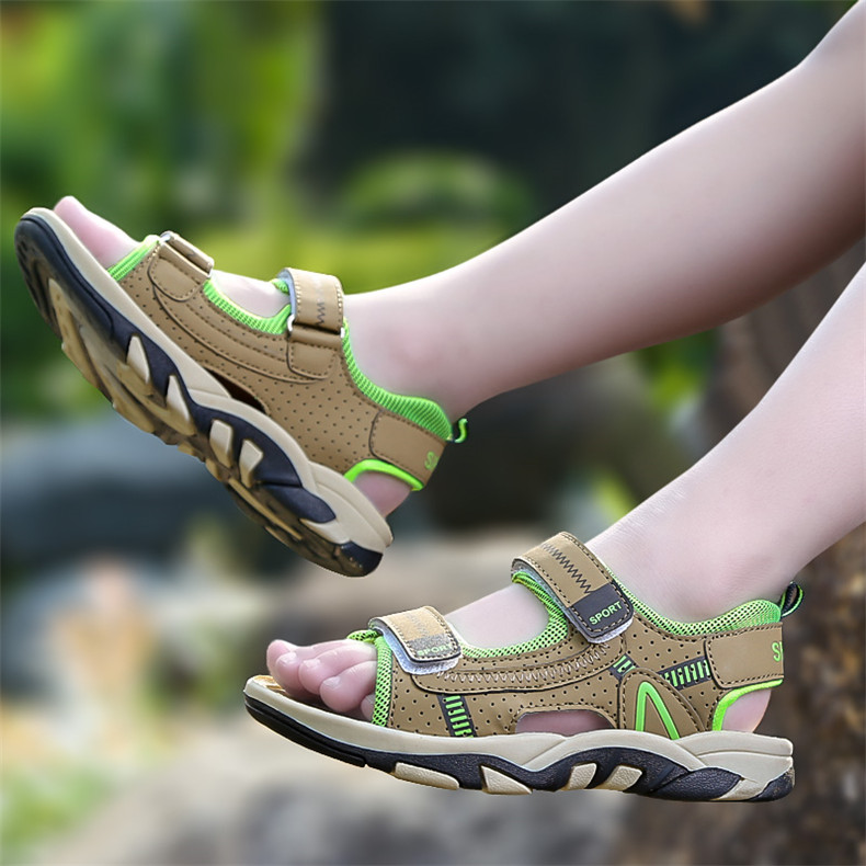 2020 Summer Boys Sandals Kid Sandals Children Shoes Cut-outs Rubber School Shoes Breathable Open Toe Casual Boy Sandal (22)