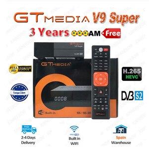 Best 1080P DVB-S2 GTmedia V9 Super Europe Cline Spain Satellite TV Receiver Same GTmedia V8 Nova Freesat V9 Super Europe cline(China)